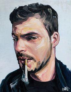 oil portrait by Kups , via Behance