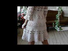 Crochet Box, Free Crochet, Special Dresses, Crochet Videos, Chrochet, Flare Skirt, Crochet Clothes, Crochet Patterns, Short Sleeve Dresses