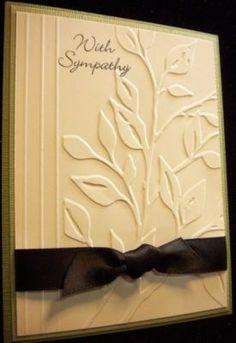 Sympathy, Leaves embossing folder
