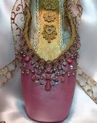 Image result for pretty decorated pointe shoes