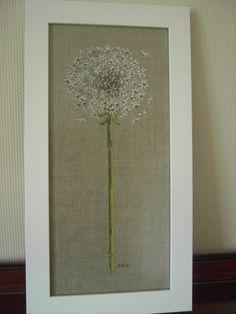 Cross stitch picture - dandelion head