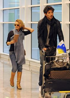 Kylie Minogue and her boyfriend Andres Velencoso Segura arrive in Barcelona just in time for the Holidays.