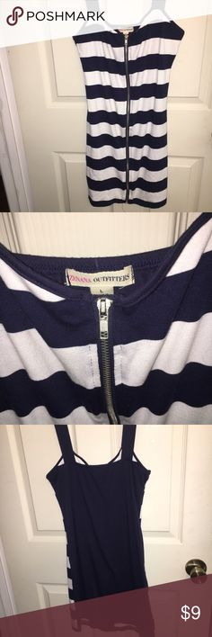Nautical looking Dress with zipper Zips the whole length of the dress. Worn a few times. Some slight fraying on the very bottom on the inside, hardly noticeable. Zenana Outfitters Dresses Mini