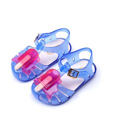 >> Click to Buy << 2017 Colorful Mini Melissa Popsicle High Quality Kid's Sandals Soft Leather Rain Boots Buckle Strap Charm Children Shoes #Affiliate