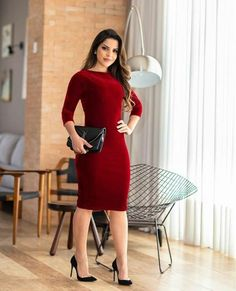 Dress Up, High Neck Dress, Bodycon Dress, High Fashion, Womens Fashion, Well Dressed, Work Wear, Dresses For Work, Plus Size