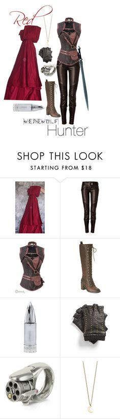 A fashion look from October 2013 featuring red riding hood halloween costume, skinny fit pants and nine west boots. Browse and shop related looks. Halloween Kostüm, Diy Halloween Costumes, Halloween Cosplay, Cool Costumes, Cosplay Costumes, Costume Ideas, Huntress Costume, Werewolf Hunter, Red Riding Hood Costume