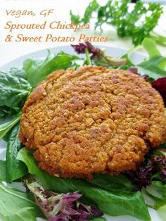 Gluten-Free Sprouted Chickpea and Sweet Potato Burger Patties