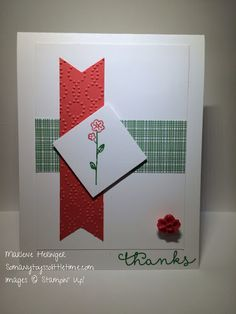 So Many Toys So Little Time; Stampin' Up! Cottage Greetings, Cherry on Top, Thanks.