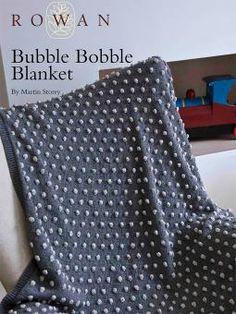 Bubble Bobble Blanket by Martin Storey from Rowan. Free Download Pattern. http://www.knitrowan.com/files/patterns/Bubble_Bobble_Blanket.pdf #Knitting