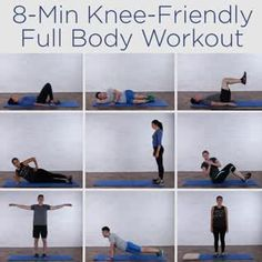 8 Minute Knee Friendly Full Body Workout – Knee issues getting in the way of your fitness goals? This knee-friendly workout will help you lead a healthy and active lifestyle. Burn 300 Calories With This Bodyweight Workout 5 Fitness Quotes That Motivate Fitness Workouts, Fun Workouts, At Home Workouts, Fitness Websites, Fitness Classes, Body Fitness, Fitness Goals, Health Fitness, Funny Fitness