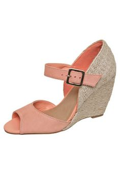 #shoes Sandália Via Uno Anabela Sisal Rosa R$199,90 #fashion #cute