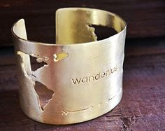 World Map Ring / Travel Ring / Travel Gift / Traveler by Bubblebox