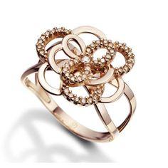 ANEL OURO ROSÉ DIAMANTE BEGÔNIA RENDAS MENOR (Anel em ouro rosé 18k e 16 pts de diamantes - Coleção Begônia Rendas) AN00046361 R$ 3.390,00 ou 10x* R$ 339,00