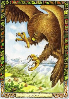 Eagle | The Druid Animal Oracle by Stephanie and Phillip Carr | Meaning: intelligence, renewal and courage | Reversed: its meaning would be to guard against too much intellect and not enough emotion.