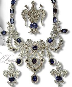 Sapphire Parure of the Marie-Louise Empress of France such gorgeous jewels of the heads of state.