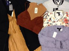 It's sneak peek time! Check out these brand new items from Forever 21! Join us for our Black Friday Event on Nov. 25 starting at 10am! 🕙 (No holds will be taken on these items) #iloveplatoskw #blackfriday #forever21 #fallfashion | www.platosclosetkitchener.com