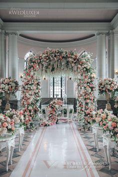 Magical Casa Loma Wedding - Wedding Decor Toronto Rachel A. Wedding Ceremony Arch, Hotel Wedding, Wedding Events, Wedding Receptions, Wedding Gowns, Magical Wedding, Dream Wedding, Garden Wedding, Wedding Prep