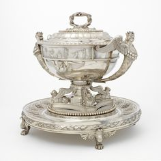 Large Soup Tureen with Stand (from set of 4), Paul Storr, 1806-1807, LACMA Collections Online