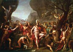 Jacques-Louis David, Leonidas at Thermopylae,1812-14, olio su tela, 4,0 m x 5,3 m.