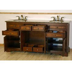 mission bathroom vanity |  (double) 72-inch mission style
