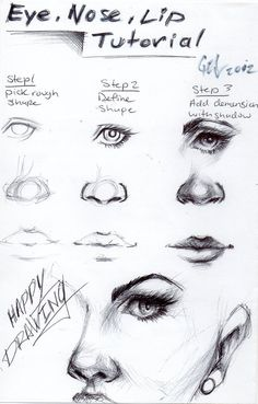 Eye, nose and lip tutorial by http://blucinema.deviant... on http://@deviantART