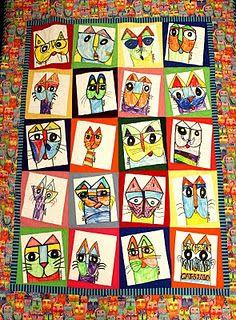 Laurel Burch quilt