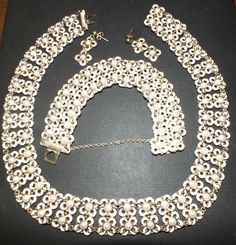 Vintage David Andersen Sterling Enamel Norway Necklace Bracelet Earrings Set #DavidAndersen