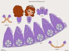 See 19 Best Photos of Disney Papercraft Printables Crafts. Princesa Sofia Disney Santa Claus Papercraft Flounder Little Mermaid Template Disney Princess Paper Dolls Monsters Inc Papercraft 3d Paper Crafts, Paper Toys, Diy And Crafts, Crafts For Kids, Princess Sofia Party, Disney Princess Party, Disney Paper Dolls, Princesa Sophia, Sofia The First Birthday Party