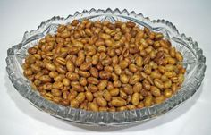 Roasted Soy Nuts from Food.com:   A great high fiber, high protein snack. I can munch on these all day!  They are also great on a salad to give some extra crunch. Preparation time does not include the soaking of the beans.