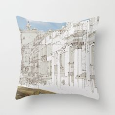 Capricci Throw Pillow by anipani - $20.00
