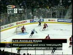 2001 Playoffs: LA Kings (Part 1 of 4) Game 4 - The Frenzy on Figueroa: The Kings scored 3 goals late in the 3rd to send the game into overtime. Eric Belanger completes the comeback. Here's the call by two guys not Bob and Jim.