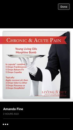 Young Living Essential Oils: Morphine Pain Relief