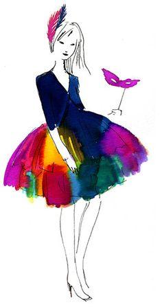 ' Eu achei que ela tem um belo vestido , e a roupa eu amei .