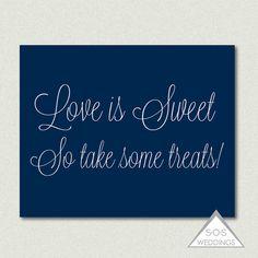 Love is Sweet So take some Treats Glitter Candy by SOSWeddings