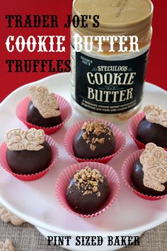 Pint Sized Baker: Trader Joe's Cookie Butter Truffles.  These could be the most evil things ever.  That being said, I'm trying them.