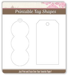 Folding Pocket Gift Tag Template  Great For Business Gifts Too
