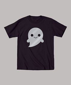 Take a look at the Black & Silver Friendly Ghost Tee - Toddler & Kids on #zulily today!