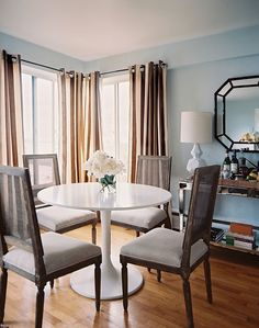 Cane Chairs + Mirror