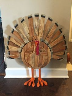 Hand-crafted and painted Thanksgiving turkey, can change colors, details if desired. Measurements: 27 Long x 24 Wide. If ordering locally, shipping fees will be waived.