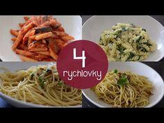 4 TĚSTOVINOVÉ RYCHLOVKY - YouTube Spaghetti, Ethnic Recipes, Food, Youtube, Essen, Meals, Yemek, Youtubers, Noodle