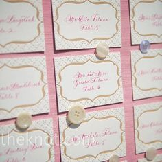 button pinned escort cards