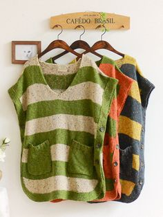 japanese stripe sleeveless vest [asian i candy]