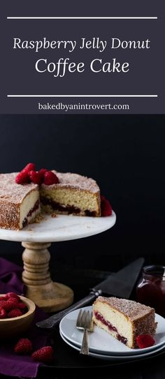 This recipe for Jelly Donut Coffee Cake combines two favorite breakfast treats. With a delicious cinnamon sugar coating, fresh raspberry jam center, and light buttery cake, this coffee cake will reign superior to all other coffee cakes.