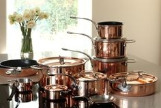 New group shot with range extension. look at the lovely new products. the Stock pot - Sauté pan - Mini Casserole - Mini Fry pan French Press, Kitchenware, Cookware, Casserole, Coffee Maker, Copper, Kitchen Appliances, Range, Group