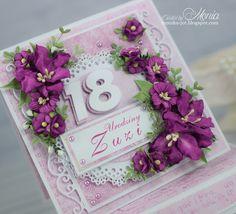 Moja papierowa kraina: kartka urodzinowa Henna Drawings, Explosion Box, Scrapbook Cards, Cardmaking, Birthday Cards, Diy And Crafts, Decorative Boxes, Birthdays, Cross Stitch