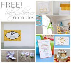 Free Printables: 24 Darling Baby Shower Invites + More!   Disney Baby