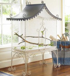 Wisteria Bird Cage I want this for Mellow Yellow and Sprite