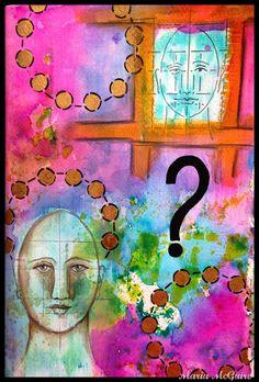 Believe Dream Create with Maria: StencilGirl Blog Hop Featuring Pam Carriker. Art Journal Page.