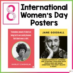 Celebrate international women's day in the classroom with inspirational posters from famous women in history.This resource includes 15 posters. Check out our other posters.Posters... School Resources, Classroom Resources, Classroom Organization, Classroom Management, International Womens Day Poster, School Stuff, Back To School, Shirley Chisholm, Inspirational Posters