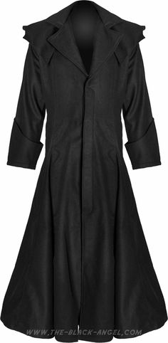 Majestic gothic wool coat for men, by Hard Leather Stuff clothing.